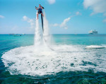 A Jetpack Cayman employee demonstrates the new watersport you can now do on the island. © Paolo Woods & Gabriele Galimberti