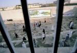 Im Innenhof des Staatsgefängnisses der Provinzhauptstadt Kerman dürfen inhaftierte Frauen frühmorgens eine Stunde spazieren gehen, Südiran, 2003  © Ulla Kimmig