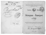 Passport belonging to Ferdinand Schweizer, who emigrated to Russia in around 1900. (Winterthur Library, special collections, MS 8° 290)