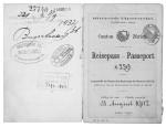 Reisepass von Ferdinand Schweizer, der um 1900 nach Russland auswanderte. (Winterthurer Bibliothek, Sondersammlungen, Ms 8° 290)